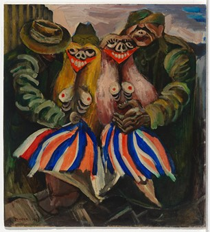 Albert Tucker, Victory girls, 1943, courtesy of The National Gallery of Victoria.