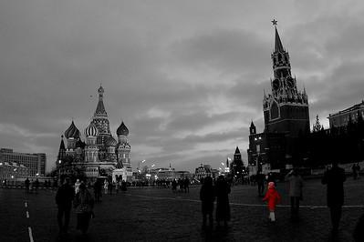 Adam Baker, Red Square, Red Coat, 2006.