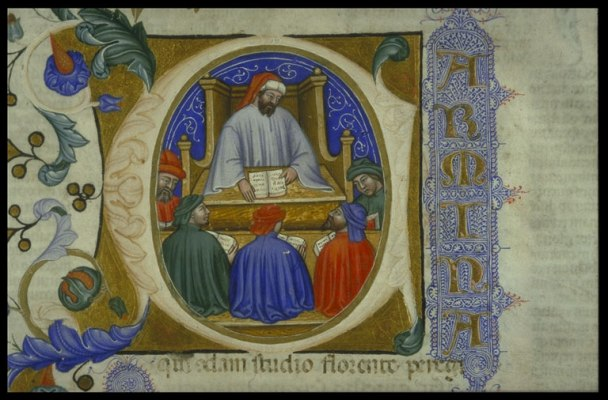 Anicius Manlius Severinus Boëthius, On the Consolation of Philosophy, 1385, courtesy of the Special Collections Library of Glasgow University.